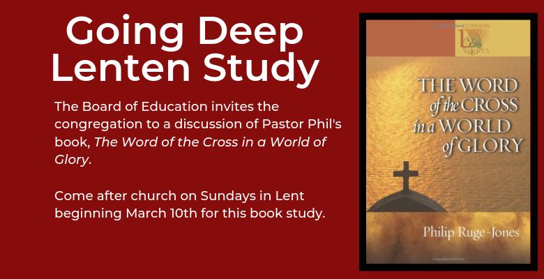 Going Deep – Lenten Study