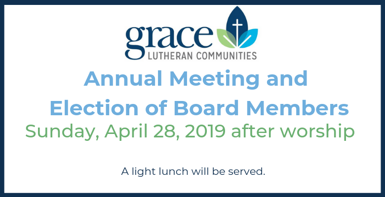 Grace Lutheran Foundation Annual Meeting