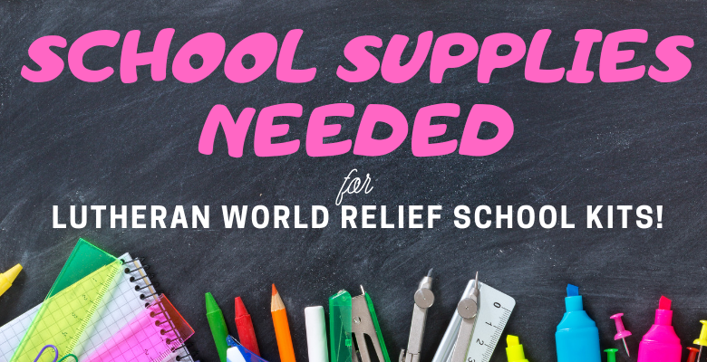 School supplies are needed