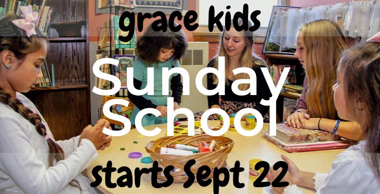 Sunday School starting soon