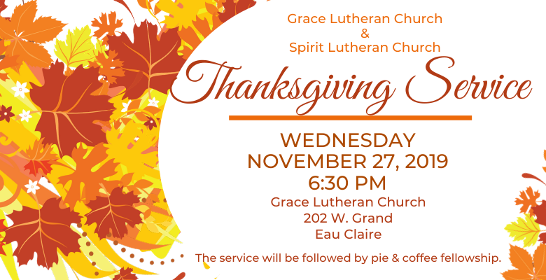 Thanksgiving Service, Nov 27