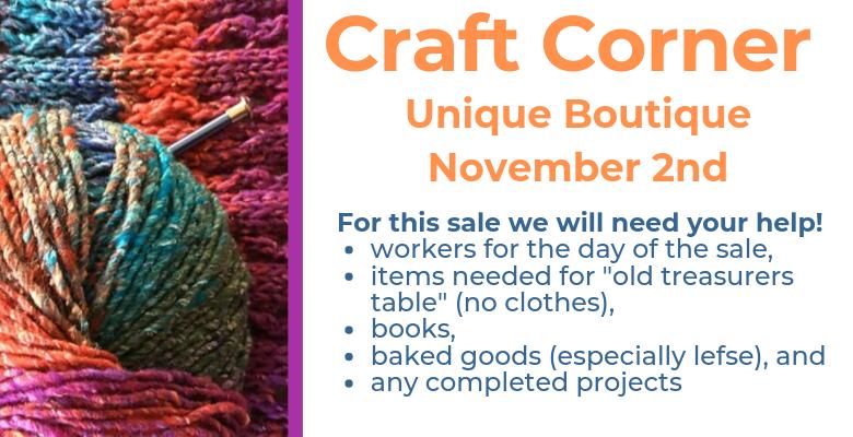 Unique Boutique Sale, November 2