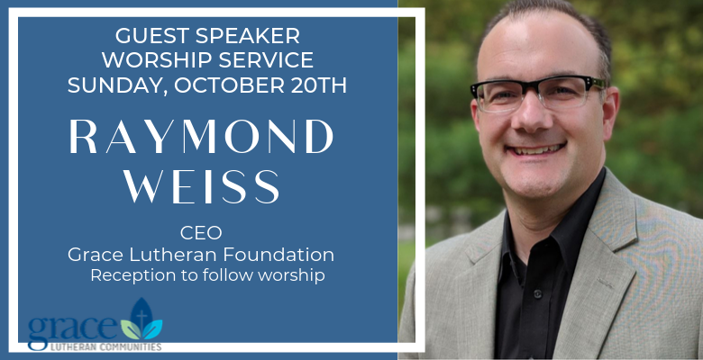 Raymond Weiss, Guest Speaker, October 20th