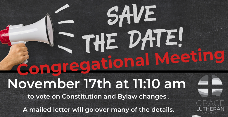 Congregational Meeting, November 17th