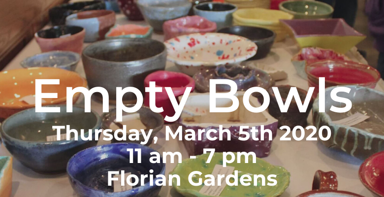 Empty Bowls Tickets on Sale at Grace Feb 16, 23 and Mar 1